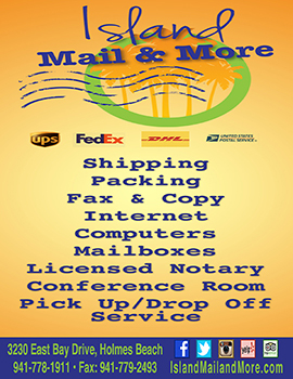 island mail and more rack card