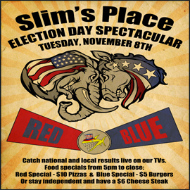 slims place election flyer
